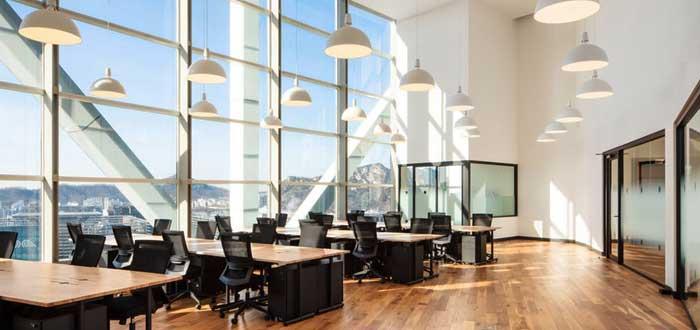 oficina ejecutiva espaciosa y muy iluminada