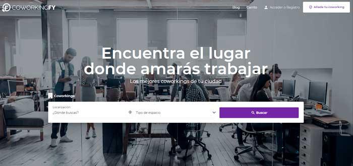 plataforma web coworkingfy para encontrar coworkings por todo el mundo
