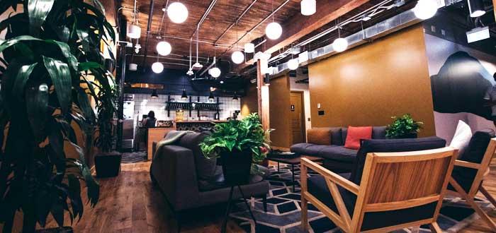 instalaciones en un espacio de trabajo colaborativo
