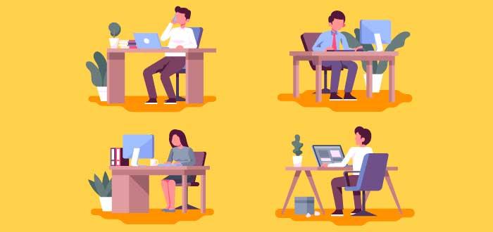 ilustración-grupo-personas-burós-oficina