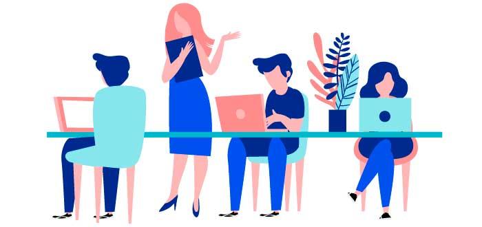 ilustracion-grupo-trabajando-juntas