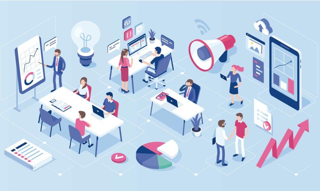 empresa-trabajando-en-un-coworking