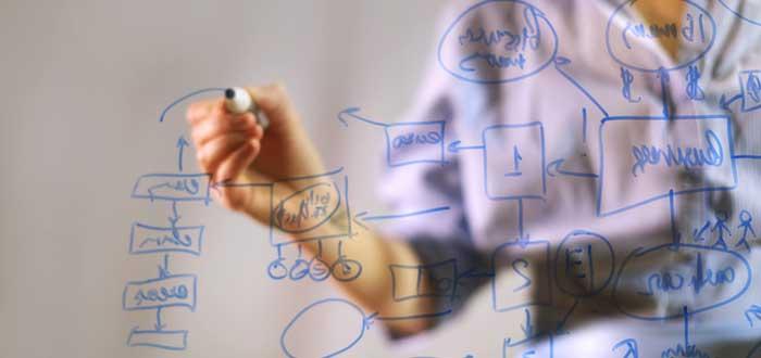 empresaria-dibujando-un-mapa-mental