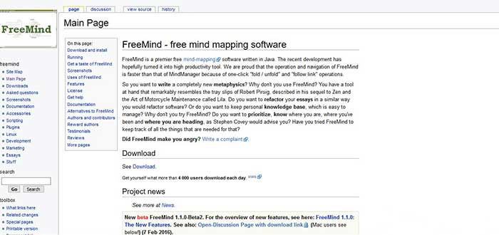 free-mind-screenshot