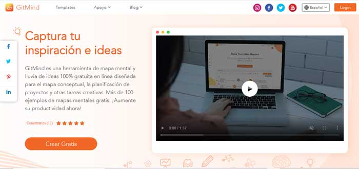 GitMind - Herramienta para crear mapas mentales