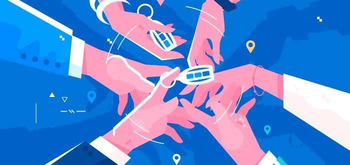 grupo-de-manos-compartiendo-servicios-llaves-ubicaciones