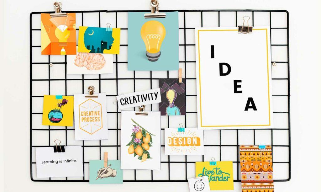 ejemplo de tablero con elementos creativos