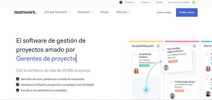 Softwares de gestión de proyectos - TeamWork