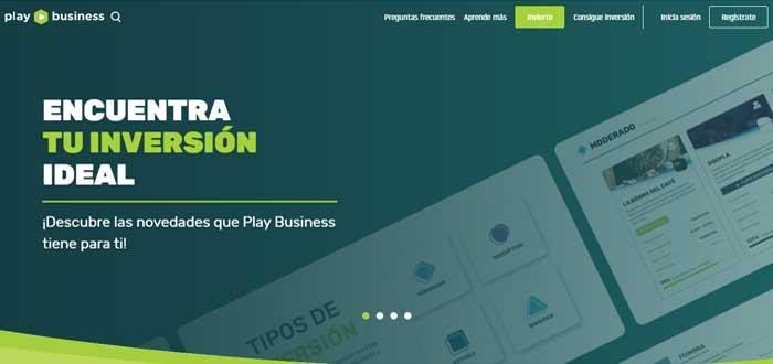 Play Business plataforma screen