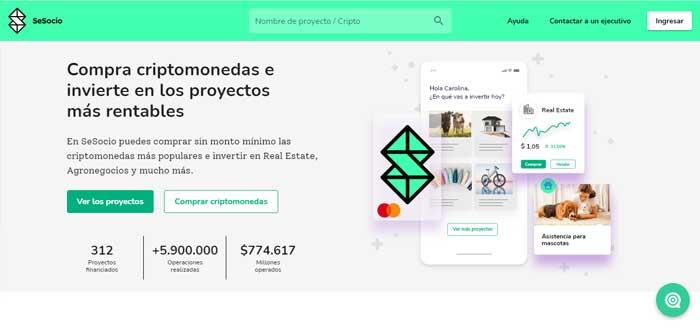SeSocio.com screen