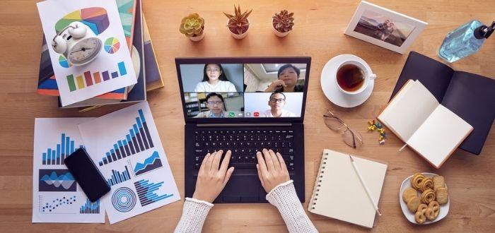 Reunión de trabajo virtual | Smart working