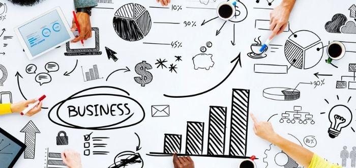 Trabajo creativo para cómo hacer crecer un negocio