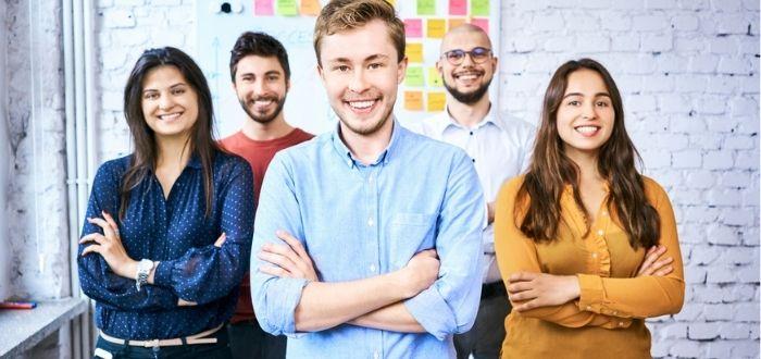 Emprendedores en el sitio de trabajo