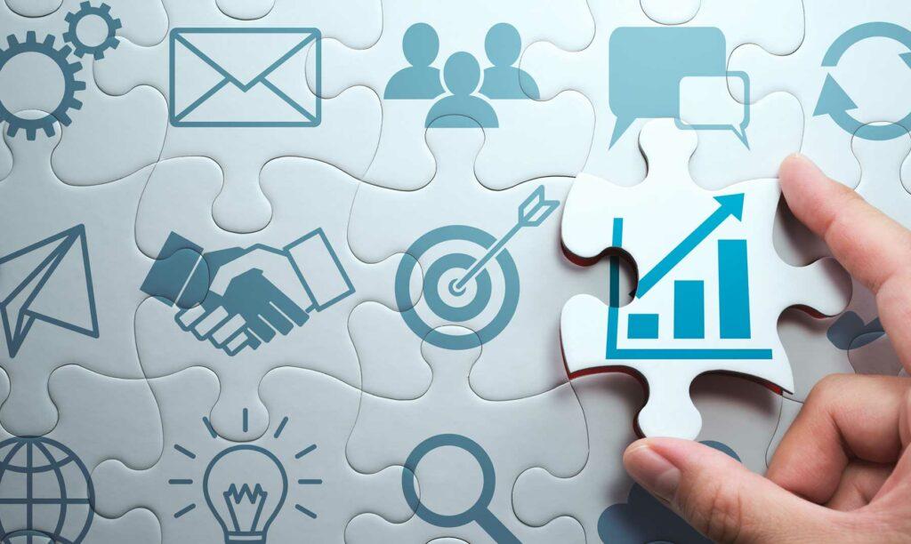 idea de crecimiento empresarial